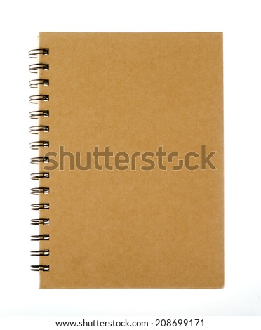 Empty notepad (notbook) isolated on white - stock photo