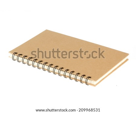 Empty notepad (notebook) isolated on white - stock photo