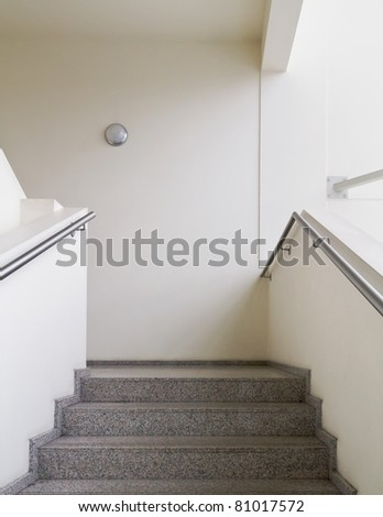 Empty office building stairway composition - stock photo