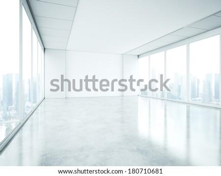 Empty office interior - stock photo