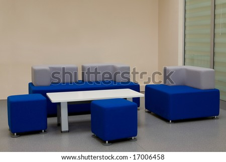 empty office interior with modern furniture