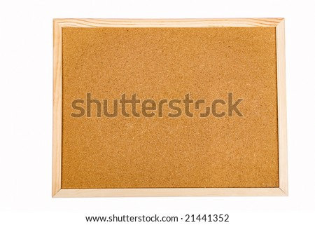 Empty office message board isolated on white
