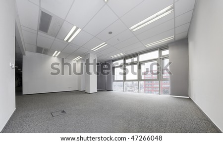 Empty office ready for rent - stock photo