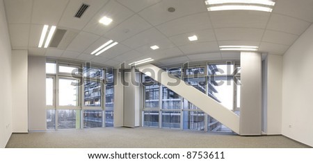 Empty office ready to move in - stock photo
