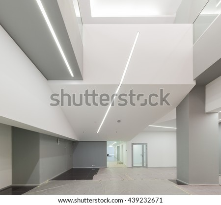 Empty office renovated space in modern building
