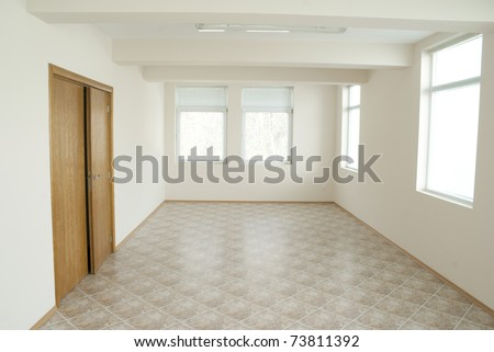 Empty office room that can be used for background - stock photo
