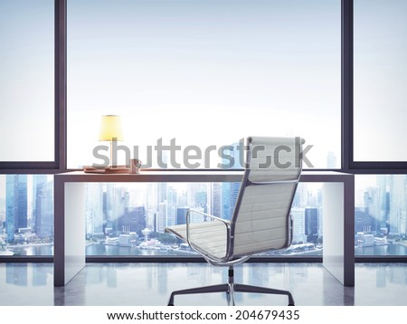 Empty office work place - stock photo