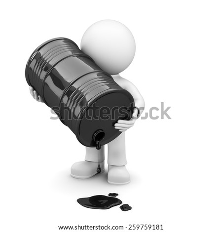 empty oil barrel - stock photo