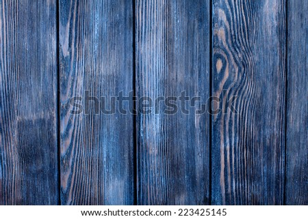 Empty old shabby blue painted wooden background for design - stock photo