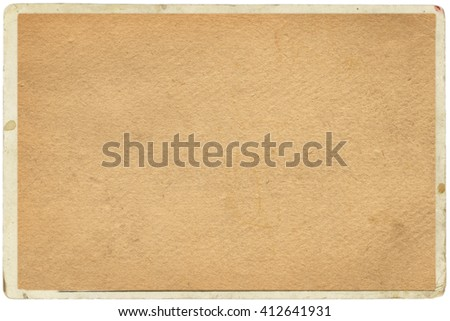 empty old vintage paper background in frame.Weathered and ancient Kraft Paper texture - stock photo