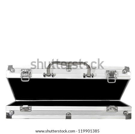 Empty Open Case on White Background - stock photo