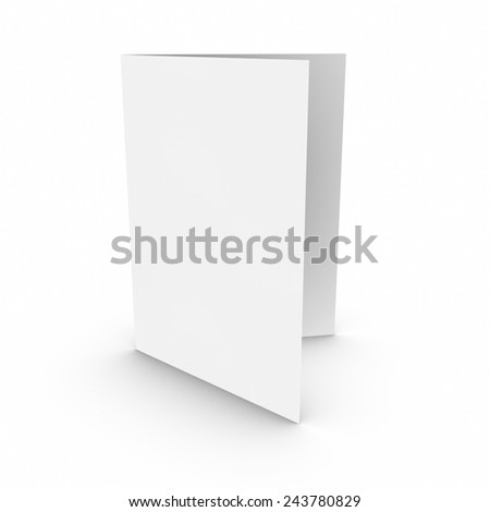 Empty Open Paper Brochure, 3D Illustration - stock photo