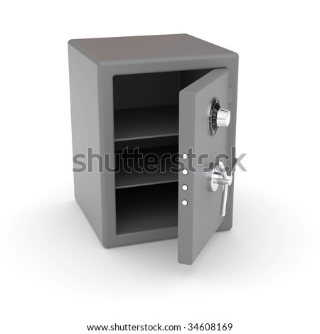 Empty open safe