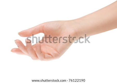 Empty open woman hand