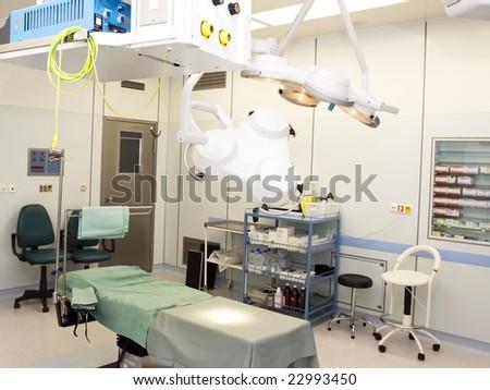 empty operative room - stock photo
