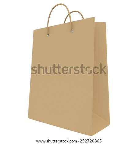 Empty package isolated on white background. 3d render