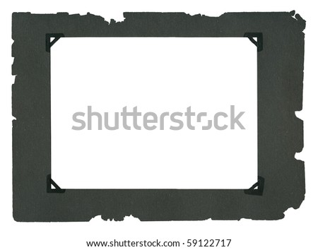 Empty page from an old album isolated on white background - stock photo