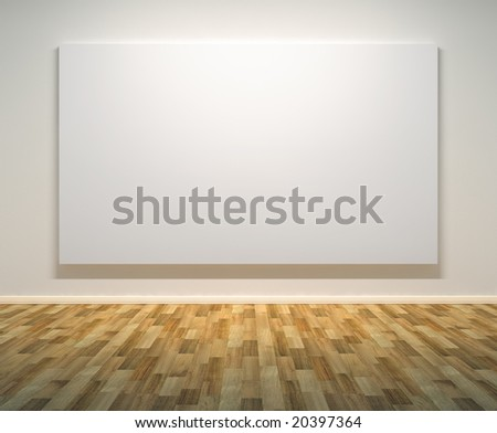 Empty Paintings Frame on the Wall. Clipping path on frame. - stock photo