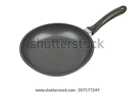 Empty pan isolated on white background - stock photo