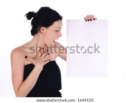 empty panel - stock photo