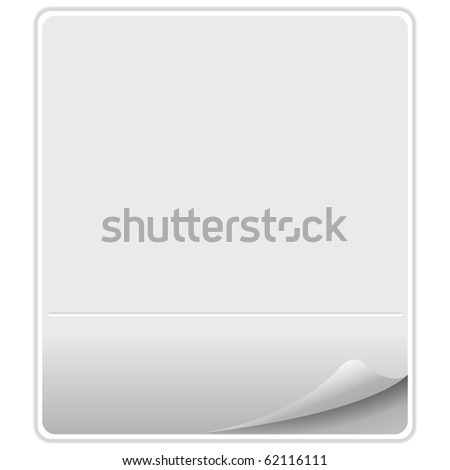 empty paper against white background, abstract art illustration; for vector format please visit my gallery - stock photo