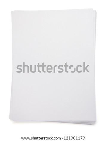 empty paper blank sheet isolated on white background - stock photo
