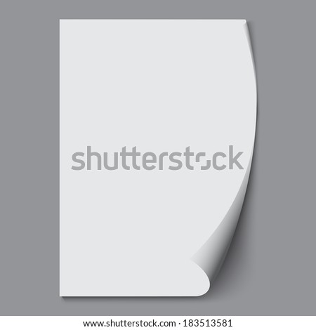 Empty paper sheet. - stock photo