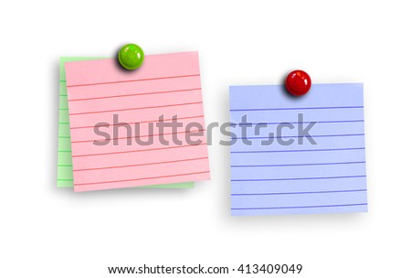 Empty paper sheet isolate on white background - stock photo