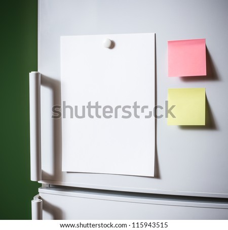 Empty paper sheet on fridge door & Fridge Door Stock Images Royalty-Free Images \u0026 Vectors | Shutterstock Pezcame.Com