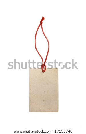 empty paper tag isolated on white background - stock photo