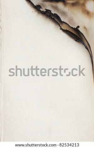 Empty paper with burnt edge - stock photo