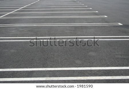 Empty parking lot