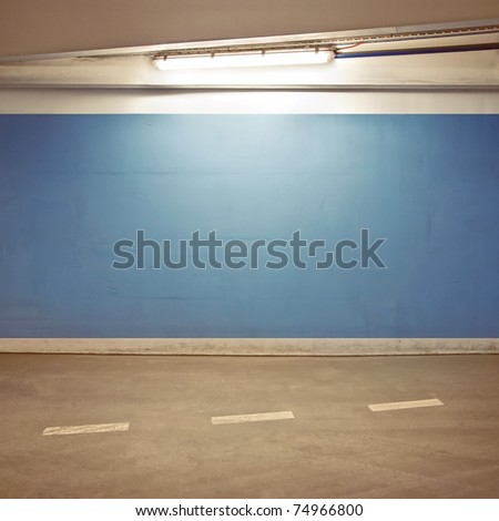 Empty parking lot area, can be used as urban background - stock photo