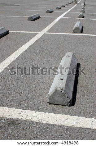 empty parking lot in perspective - stock photo