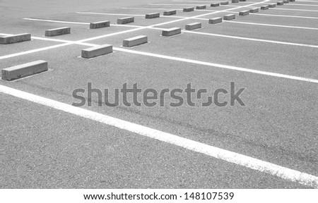 Empty Parking Spaces  - stock photo