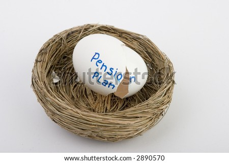 empty pension plan nest egg - stock photo