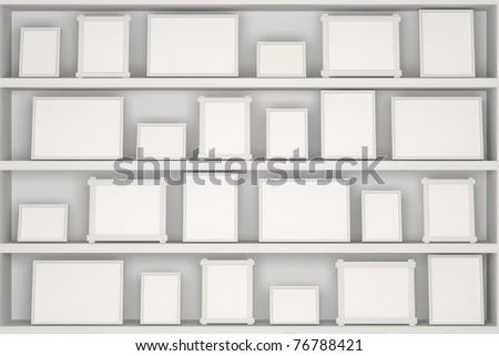 Empty Photo Frames - stock photo