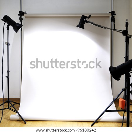 Empty photographic studio - stock photo