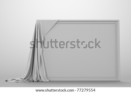 Empty Picture Covered Cloth Art Gallery Stock Illustration 77279554 ...