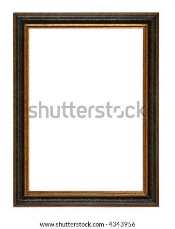 """empty picture frame isolated on white """"Clipping Paths"""" - stock photo"""