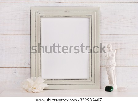 Empty Picture Frame Rustic Shabby Chic Stock Photo (Royalty Free ...