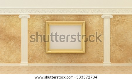 Empty Picture Golden Frames Classic Luxury Stock Illustration ...