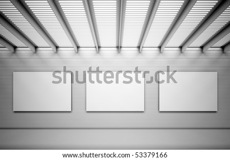 Empty pictures on a wall - stock photo