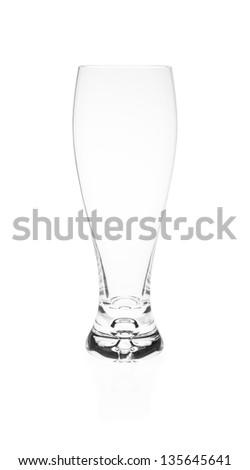 Empty Pilsner Glass - stock photo