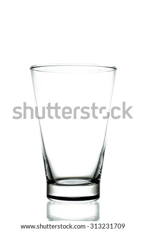 Empty pint glass isolated on white background. (Clipping path included) - stock photo