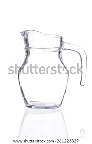 Empty pitcher isolated on a white background. - stock photo