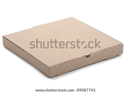 empty pizza box - stock photo