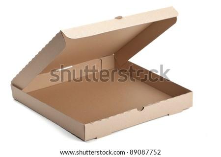 empty pizza box - stock photo