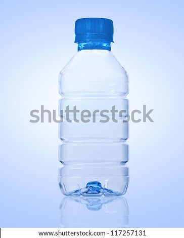empty plastic bottle - stock photo