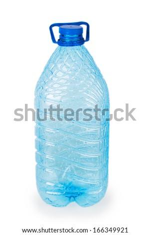 empty plastic bottle isolated on white background - stock photo